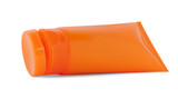Orange cosmetic tube