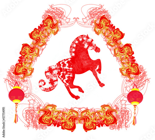 Year of Horse graphic design