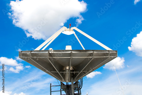 satellite dishes antenna  on blue sky