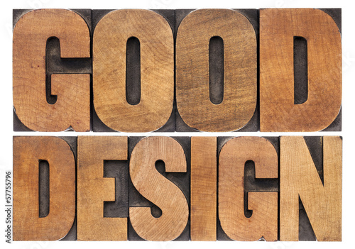 good design in wood type