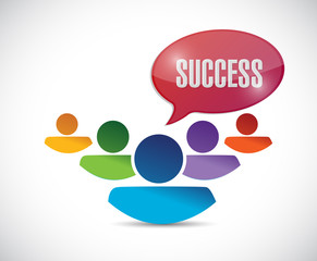 success message and people. illustration