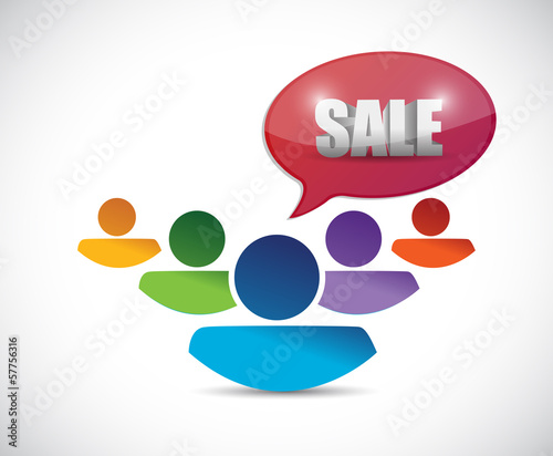 sale message and people. illustration design