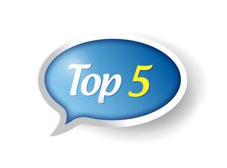 top 5 message bubble illustration design