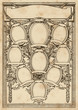 ornate photo frame for a group of nine