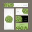 Business cards collection, green meadow design