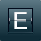 Letter E from mechanical scoreboard. Vector