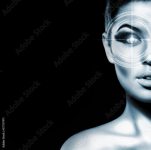 Portrait of a woman on an eye surgery procedure