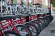 Bicicletas Rojas En El Parking