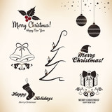Christmas and New Year symbols for designs