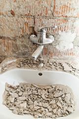 Baustelle Waschbecken