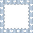 Blue Stripes and White Hearts background for your message or inv