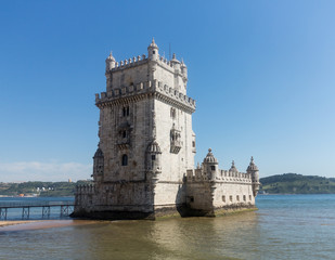 Belem tower on River Tagus near Lisbon