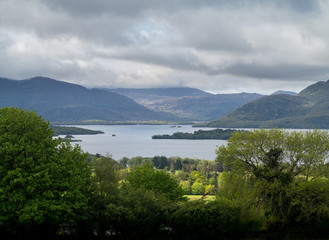 Ireland Killarny Lake on cloudy day