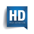 HD - high definition label