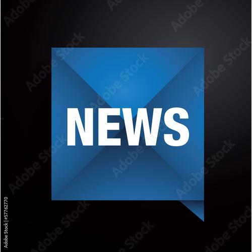 News button - vector illustration