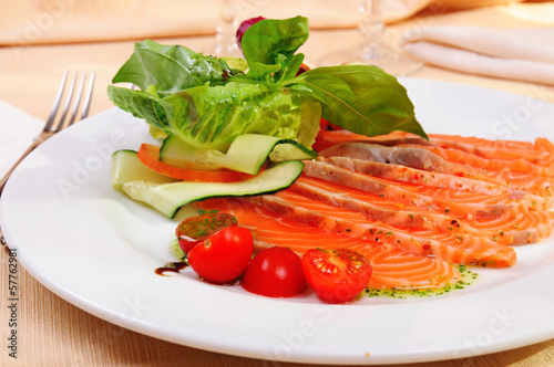 Carpaccio of salmon