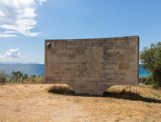 Memorial stone at Anzac Cove Gallipoli