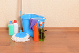 House cleaning equipment with  mop