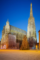 St. Stephan cathedral and christmas tree
