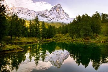 Lago Blu e Cervino, Valle d'Aosta, Italy