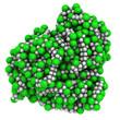 poly(vinyl chloride) plastic (PVC), chemical structure.