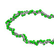 poly(vinyl chloride) plastic (PVC), chemical structure