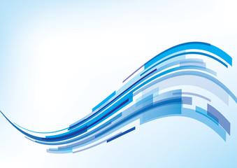 Abstract blue wave - background