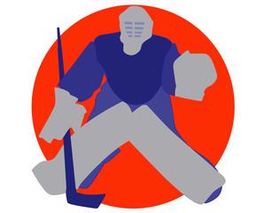 アイスホッケーのゴールキーパー