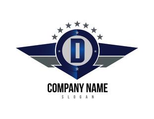 Letter D shield logo