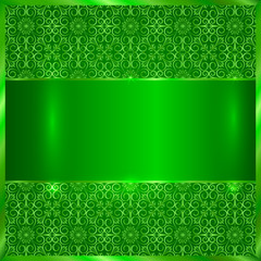 Vector green metallic plate
