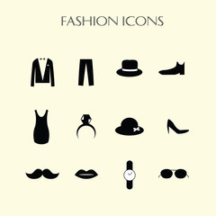 fashion icons set