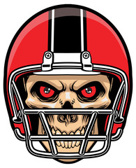 football player skull