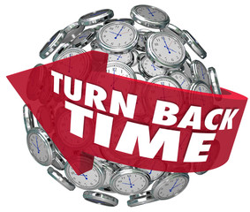 Turn Back Time Arrow Clock Sphere