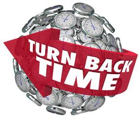Turn Back Time Arrow Clock Sphere