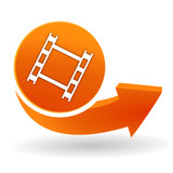 film sur bouton web orange
