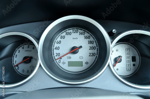 Car 's control meters set when engine stopped.