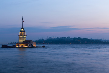 Maiden Towers at Istanbul , Turkey