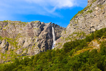 Waterfall in Flam - Norway
