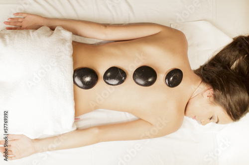 Hot stone massage therapy
