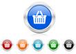 cart icon vector set