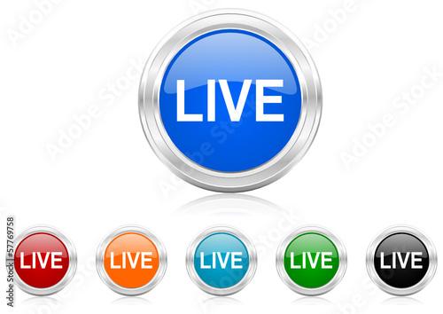 live icon vector set