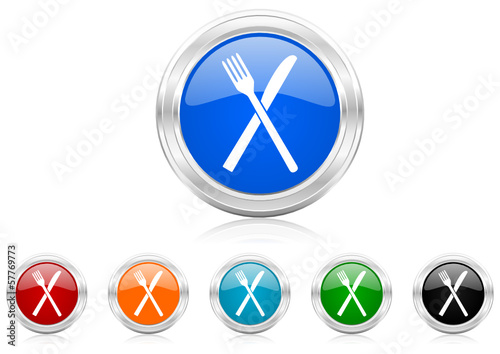 restaurant icon vector set