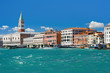 Grand Canal in Venice under the blue sky