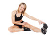 Young fit woman stretching