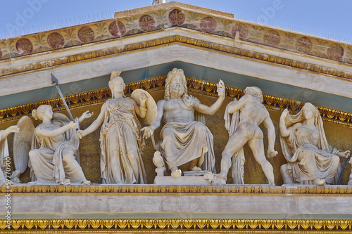 Staande foto Athene Zeus, Athena and other ancient Greek gods and deities, Athens