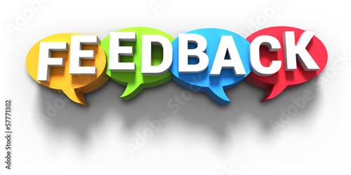 Feedback Sprechblasen 3D