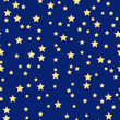 seamless pattern of gold stars on a blue  background.holiday bac