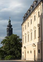Herzogin Anna Amalia Bibliothekmit Schlossturm, Weimar