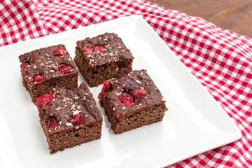 chocolate cranberry cake