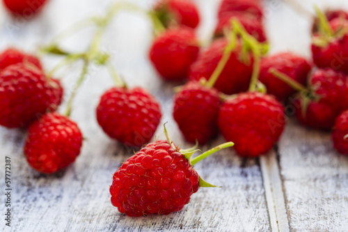 Raspberry, fruits - fresh raspberries from garden